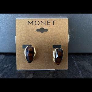 Monet Gold-Tone Clip Earrings